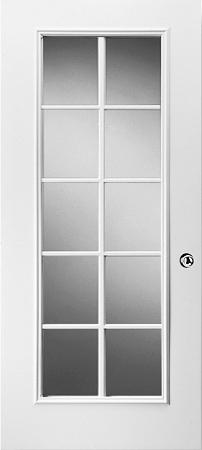 Universal 20 X 64 10 Lite Glass Amp White Frame