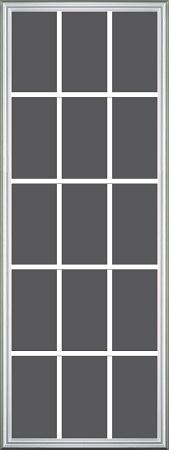 Universal 22 X 64 15 Lite Glass Amp White Frame Grids On