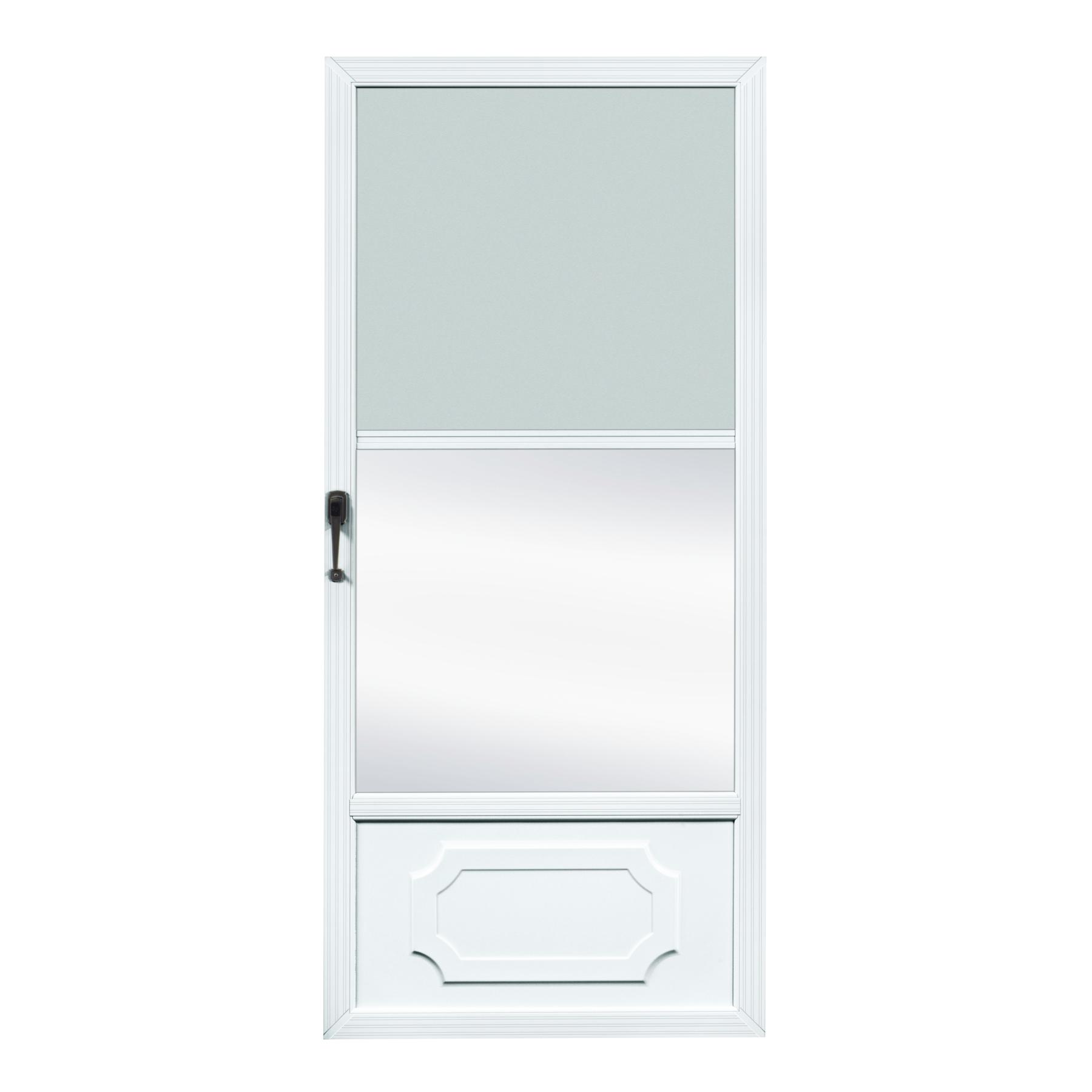 Fox weldoor model self storing custom storm door for Custom storm doors