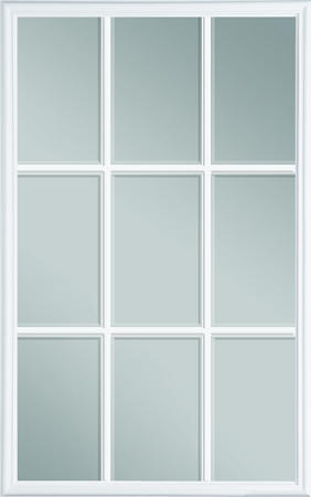 sc 1 st  DIY Door Store & Universal 22 x 36 - 9 Lite Glass u0026 White Frame