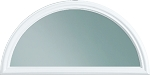 Universal Round Top 1 Lite Glass & White Frame