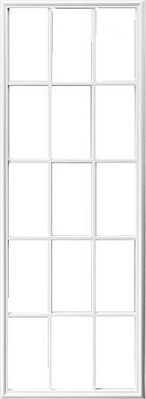 Universal White 22 X 64 15 Lite Frame