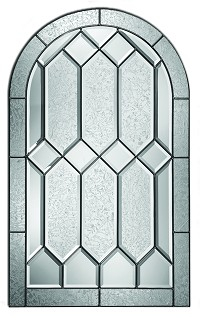 Therma Tru Crystalline 22 X 36 Round Top Glass And Frame