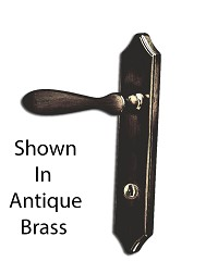 Luxemburg Storm Doorpolished Brass Lever Handle Set