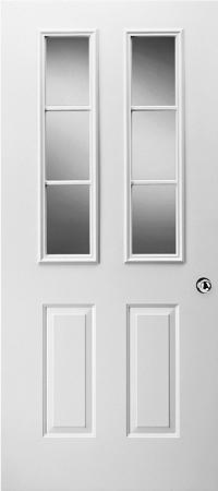 Universal 8 X 36 3 Lite Glass Amp White Frame