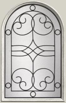 Therma Tru Salinas 22 X 36 Round Top Glass And Frame