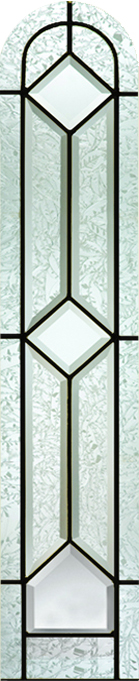 Therma Tru Crystalline 8 X 36 Round Top Glass And Frame