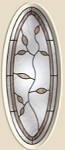 Therma-Tru Avonlea 16 x 40 Oval Glass and Frame