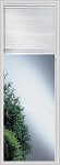 Universal 22 x 64 - Raise & Lower Blind Glass & White Frame Low E
