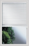 Universal 22 x 36 - Raise & Lower Blind Glass & White Frame Low E