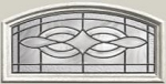 Therma-Tru Wellesley 22 x 10 Camber Top Glass and Frame