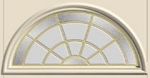 Therma-Tru Crystalline 22 x 10 Round Top Glass and Frame