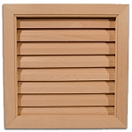DIY Interior Wood Door High Air Flow Louver - 24 x 12