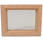 DIY Interior Wood Insert Glass and Frame - 4 x 18