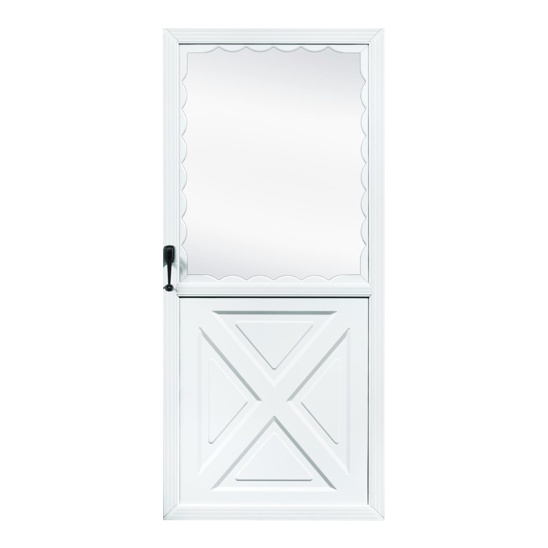 Fox Weldoor Model Crossbuck Storm Door