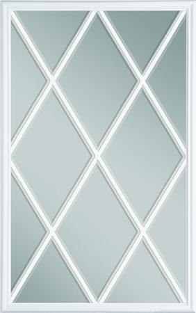 Universal 22 X 36 12 Lite Glass Amp White Frame