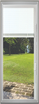 Universal 22 x 64 - Raise & Lower Blind Glass & White Frame
