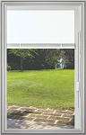 Universal White 20 x 36 - Raise & Lower Blind Glass & Frame Low E