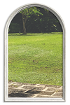 Universal 22 x 36 - 1 Lite Round Top Glass & White Frame