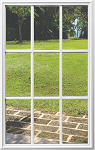 RSL Universal 20 x 36 - 9 Lite Glass & White Frame Grids on the Inside