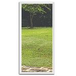 Universal 22 x 48 - 1 Lite Low E Glass & White Frame