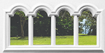 Universal 4 Lite Arched Glass & White Frame