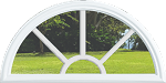 Universal Round Top 5 Lite Grids Between the Glass & White Frame