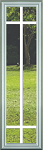 Universal 8 x 36 - 6 Lite Prairie the Glass & White Frame with Grids Between the Glass