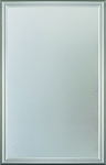 Universal 22 x 36 - 1 Lite Satin Etched Glass & White Frame