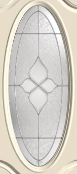 Therma Tru Concorde 16 X 40 Oval Glass And Frame