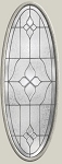 Therma-Tru Concorde 20 x 56 Oval Glass and Frame