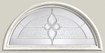 Therma-Tru Concorde 22 x 10 Round Top Glass and Frame