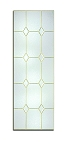 Therma-Tru Crystal Diamonds 20 or 22 x 64 Glass and Frame