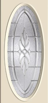 Therma Tru Kensington 16 X 40 Oval Glass And Frame