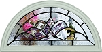 RSL Brigantine Round Top Glass and White Frame