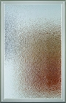 Universal 22 x 36 - 1 Lite Hammered Privacy Glass & White Frame