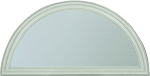 Frosted Privacy Round Top Glass and White Frame