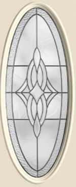 Therma-Tru Wellesley 16 x 40 Oval Glass and Frame