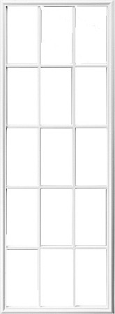 Universal White 22 x 64 - 15 Lite Frame Only