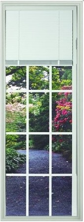 Universal 22 x 64 - 15 Lite Clear Glass with Blinds and Grills Between the Glass