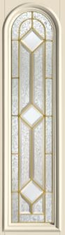 Therma-Tru Crystalline 8 x 36 Round Top Glass and Frame