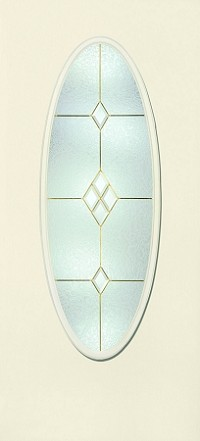 Therma-Tru Crystal Diamond 20 x 56 Oval Glass and Frame
