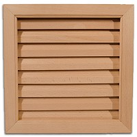DIY Interior Wood Door High Air Flow Louver - 12 x 12