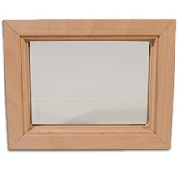 DIY Interior Wood Insert Glass and Frame - 4 x 48