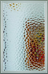 Universal 22 x 36 - 1 Lite Oceana Privacy Glass & White Frame