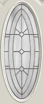 Therma-Tru Arden-Granite 16 x 40 Oval Glass and Frame