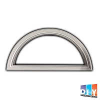 Universal White Round Top - 1 Lite Frame Only