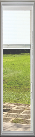 Universal White 8 x 36 - Hurricane Impact Raise & Lower Blind Glass & Frame
