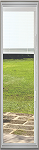 Universal White 8 x 36 - Hurricane Impact Raise & Lower Blind Glass & Frame Low E