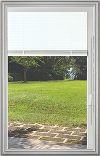 Universal White 20 x 36 - Raise & Lower Blind Glass & Frame